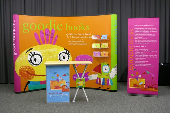 Goodie Books 10 Foot Display.