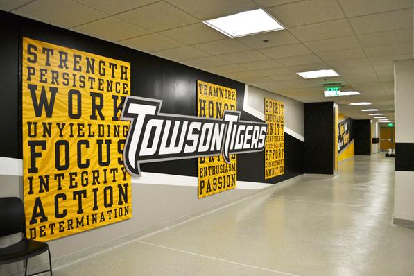 Towson University Athletic Display