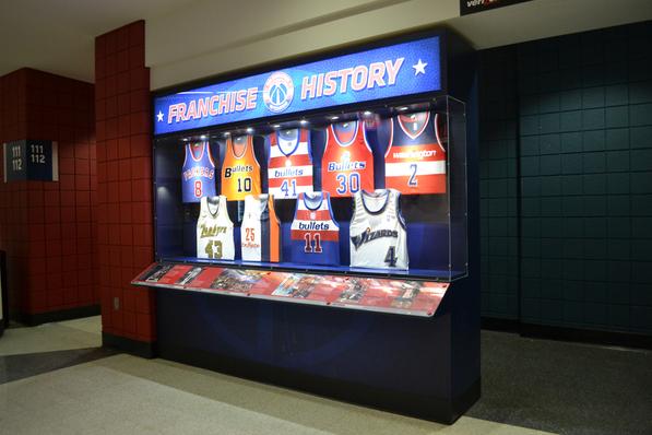 Washington Wizards Athletic Display