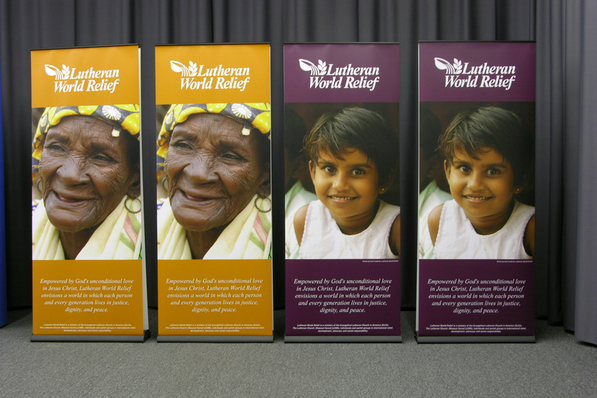 Luthern World Relief Banner Stand