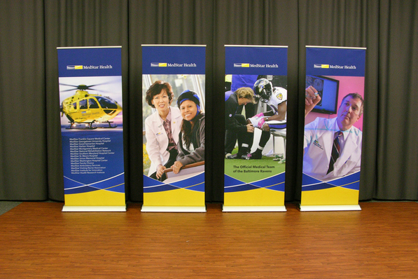 Med Star Health Banner Stand