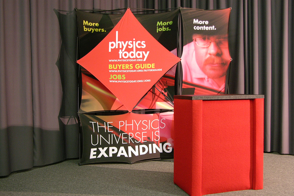 American Institute of Physics Pop Up Display
