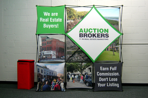 Auction Brokers Pop Up Display