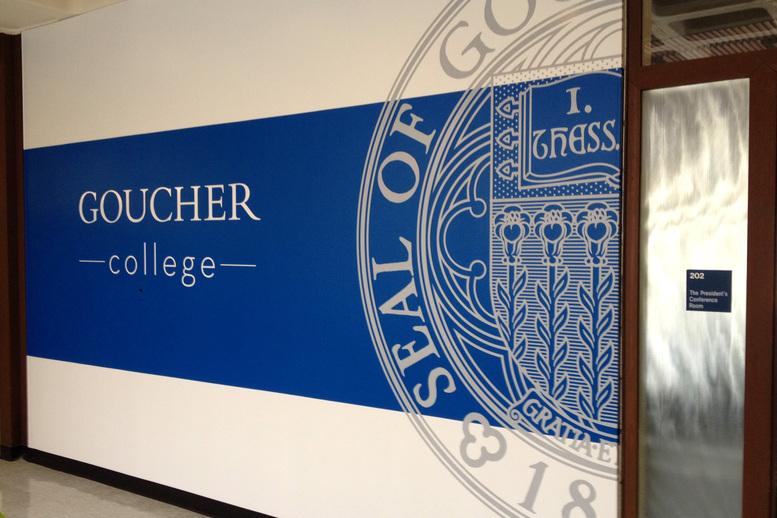 Goucher College Signage