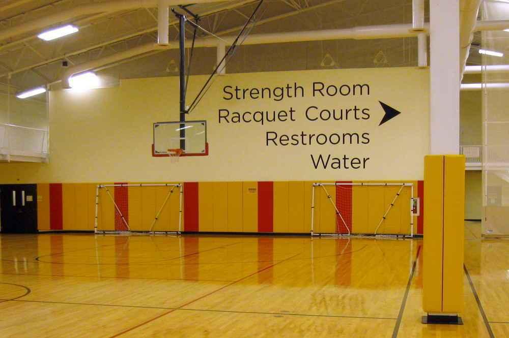 University of MD Baltimore Basketball Court