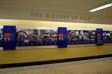 Baltimore Polytechnic Institute wall display