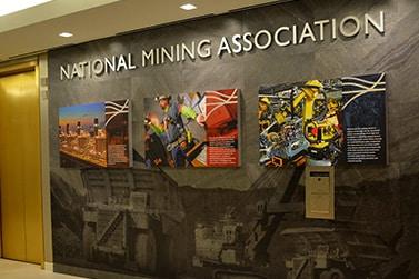 National Mining Associations wall display