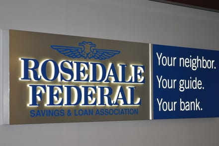 Rosedale Federal Savings Dimensional Logos